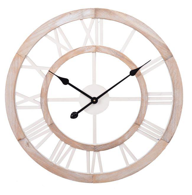 Luxusní dřevěné hodiny Římské číslice velké