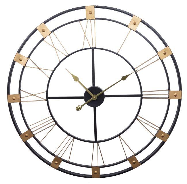 Luxusní kovové hodiny Římské číslice