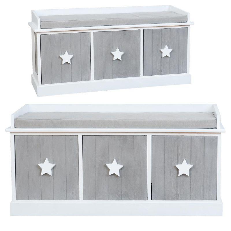 Dřevěná lavice s polstrováním Hvězdy 3