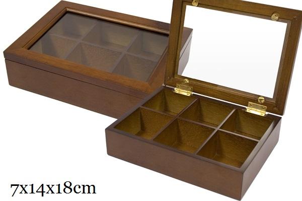 Dřevěná skříňka - 6 přihrádek