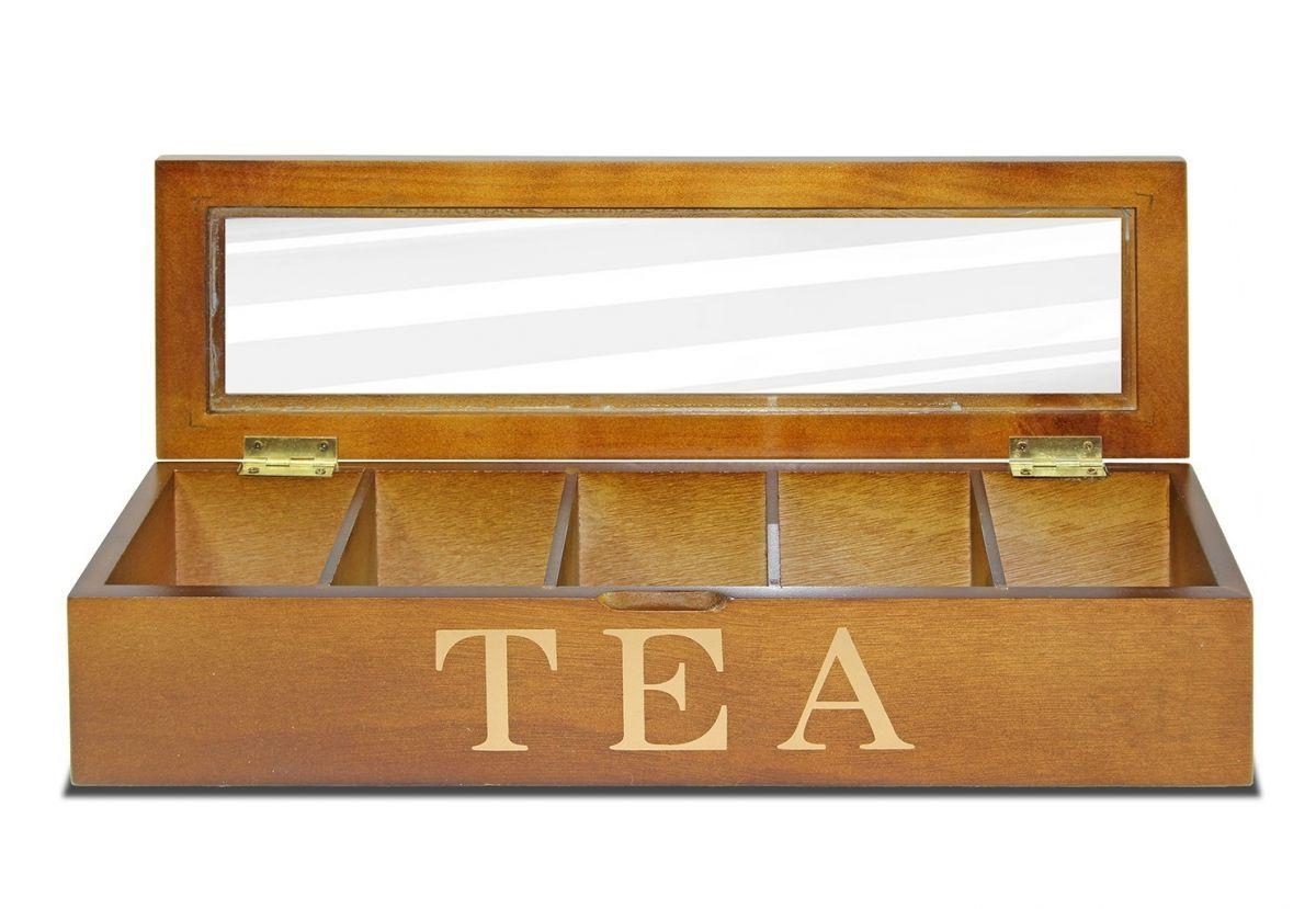 Dřevěná skříňka - na čaj Tea wood dlouhá