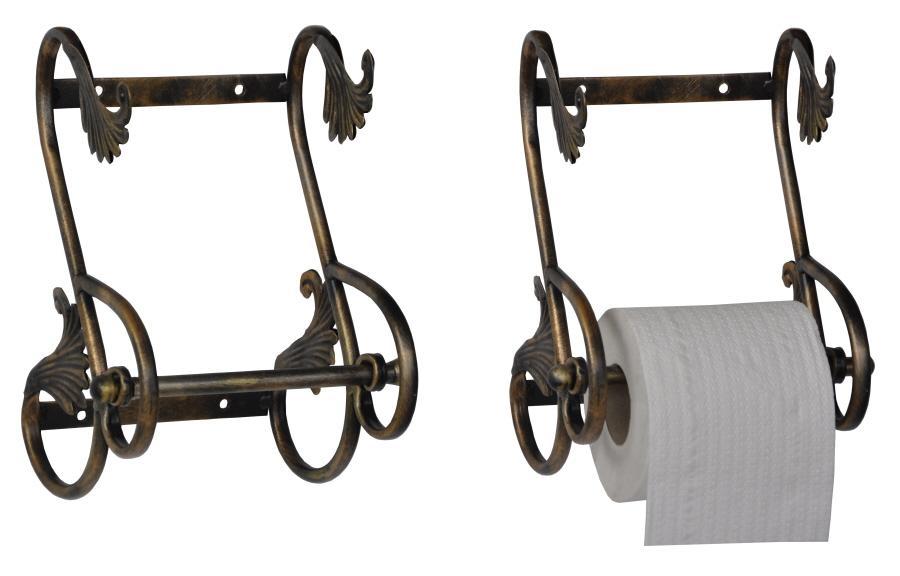 Kovový držák na toaletní papír Křidýlka