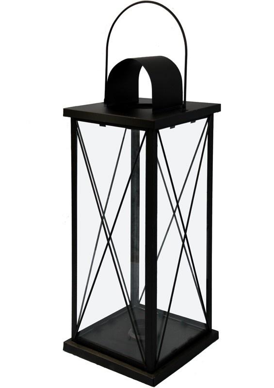 Kovová lucerna černá Cassa L