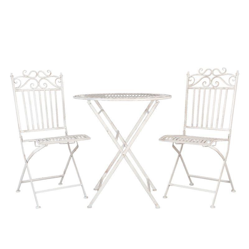 Kovový zahradní nábytek bílý Suzan