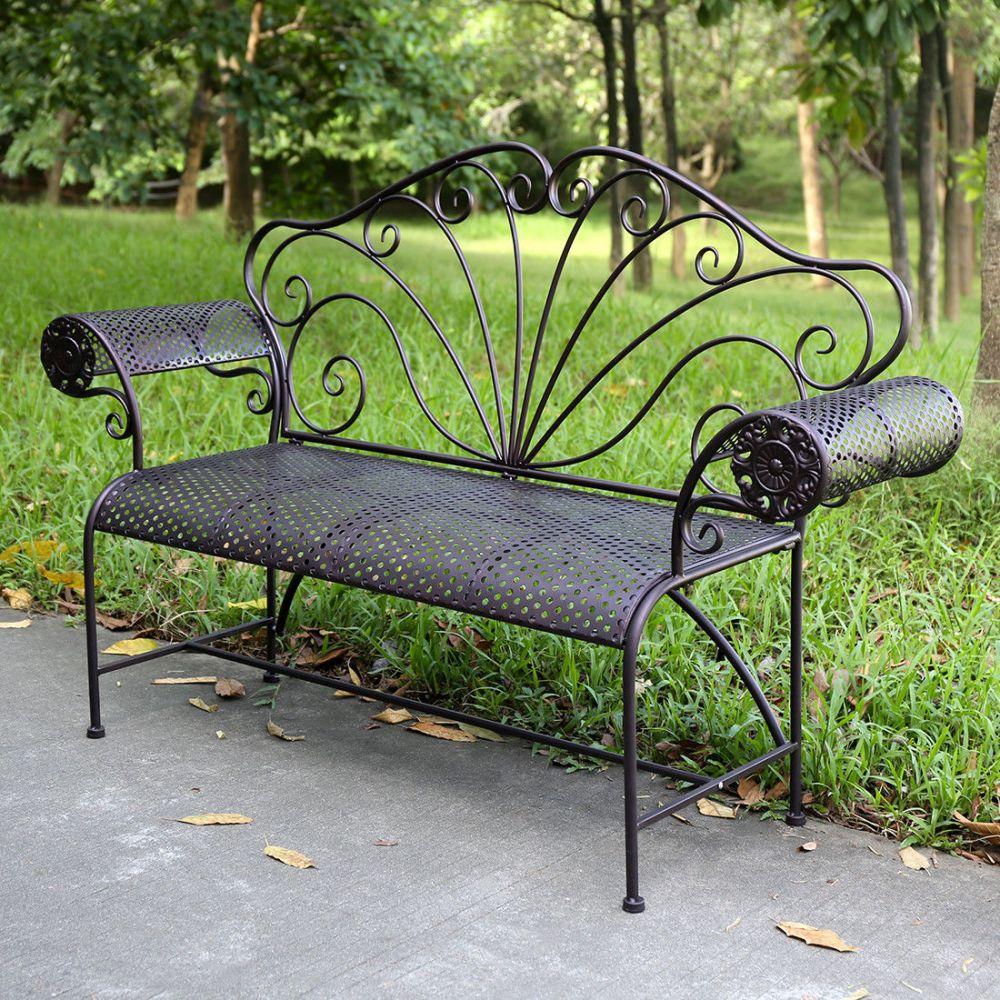 Kovová lavice Provence style ISABELL