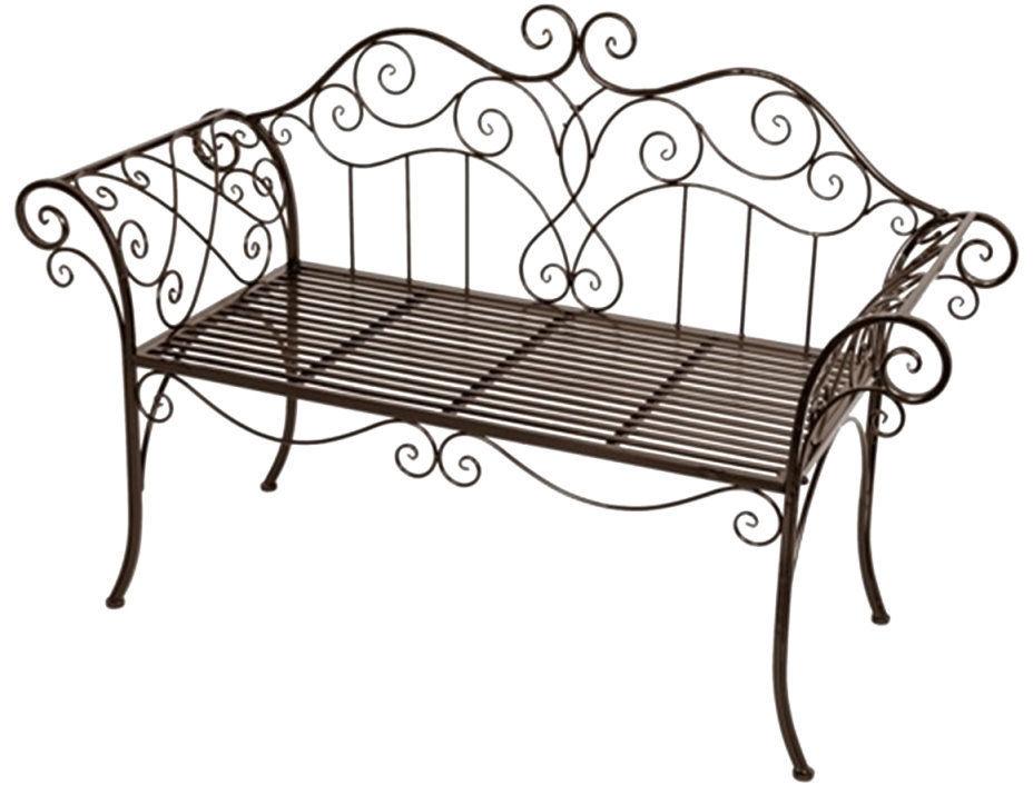 Kovová lavice - lavička Provence style černá Romanetta