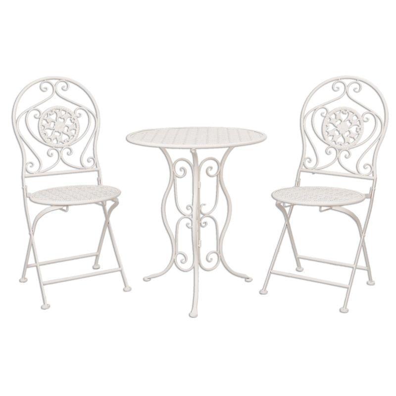 Kovový zahradní nábytek bílý Zuzana