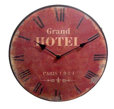 Kovové hodiny na zeď Grand Hotel