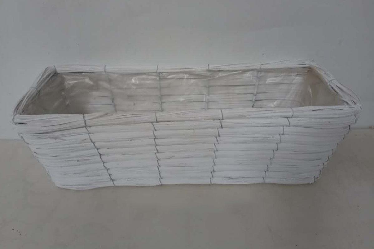 Proutěný truhlík bílý Cube S quality