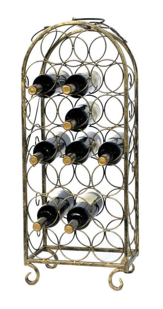 Kovový stojan na 20 lahví bronzový