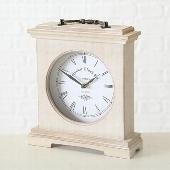 Dřevěné krbové hodiny Natur