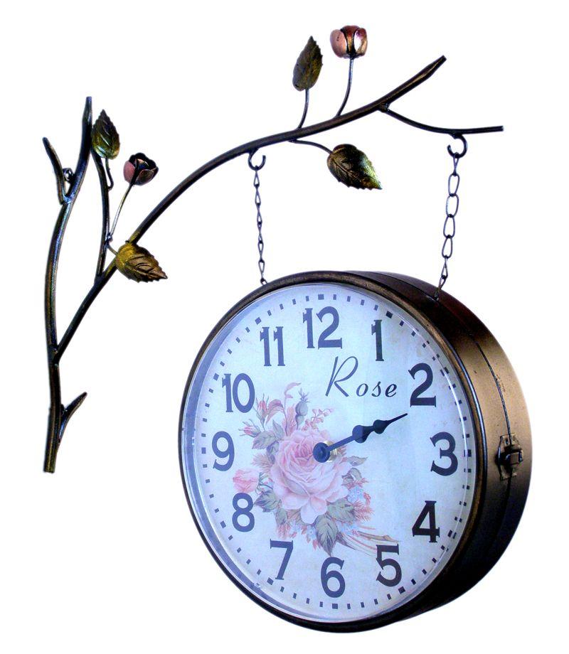 Nádražní hodiny oboustranné Rose