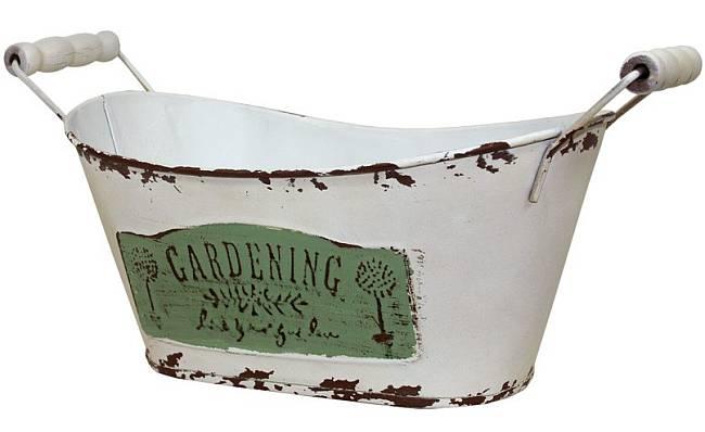 Plechový obal - květináč Gardering L