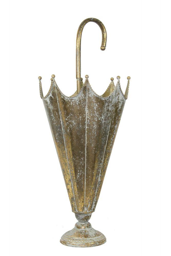 Kovový stojan na deštníky Deštník zlatý