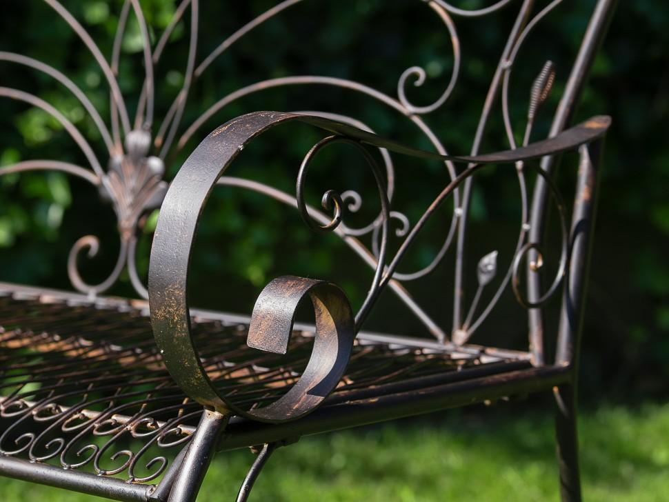 Kovová lavice Provence style 2