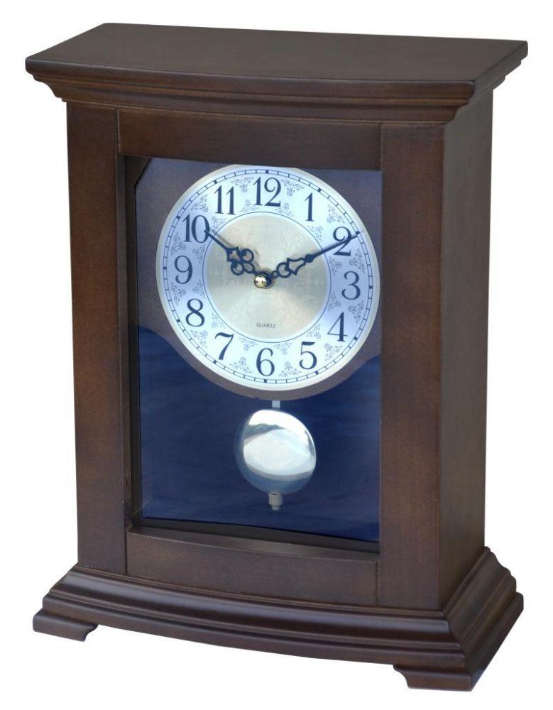 Dřevěné krbové hodiny s kyvadlem Simpla