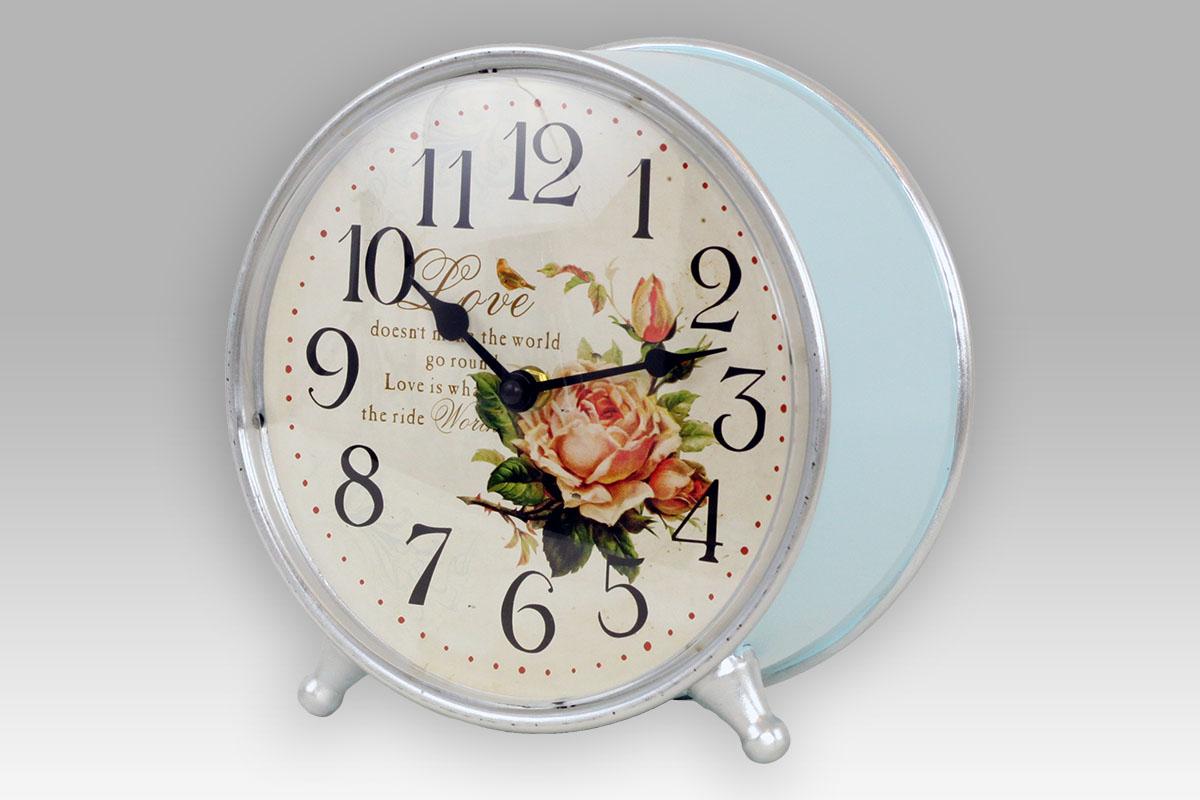 Retro budík hodiny stolní Love