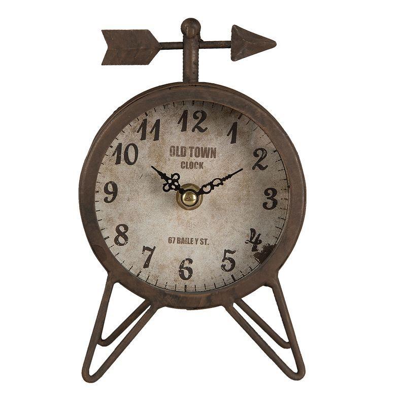 Kovové hodiny stolní Old Town šipka