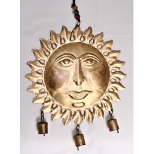 Kovové slunce se 3 zvonky
