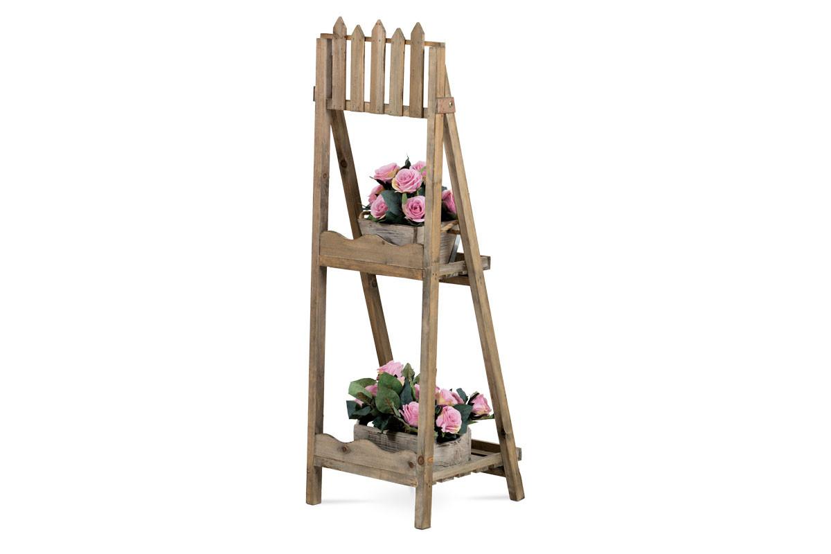 Dřevěný stojan na květiny Ruslan natural