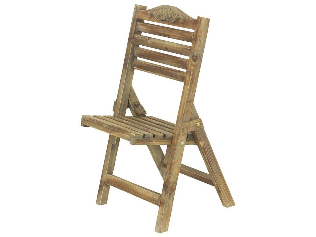 Dřevěný stojan na květiny Židlička