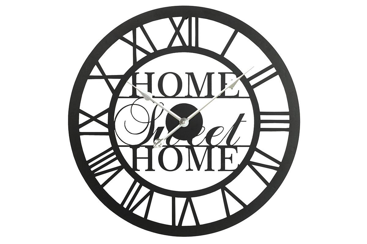 Kovové hodiny na zeď Home