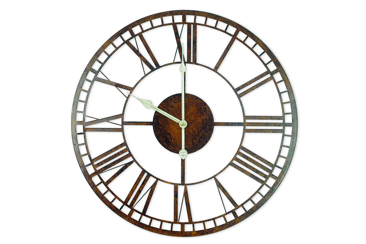 Kovové hodiny na zeď Old