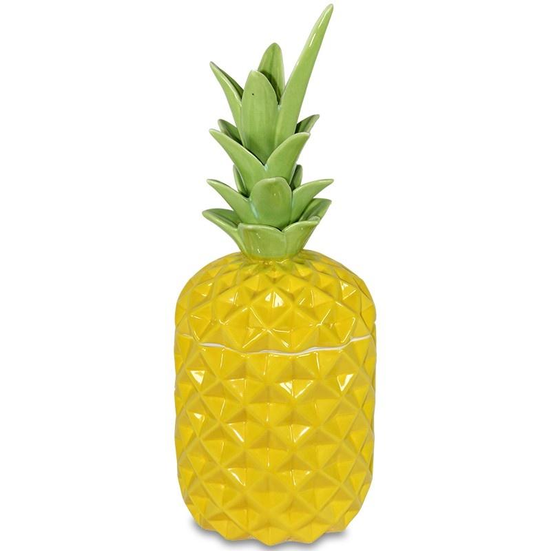 Keramická dóza Ananas žlutý