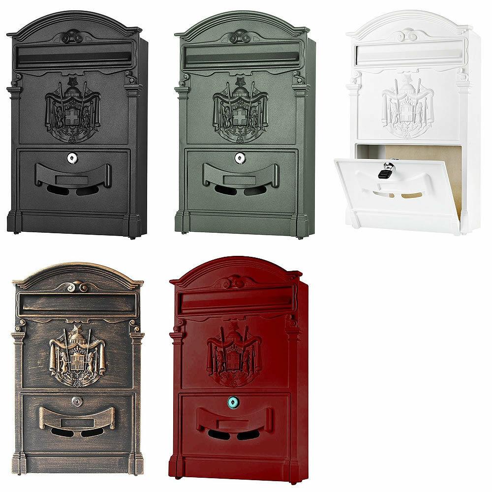 Kovová poštovní schránka - schránka na dopisy zelená