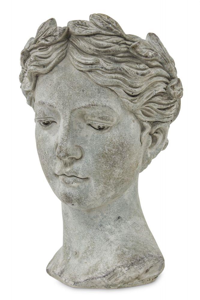 Váza z mramorové drti Hlava žena menší