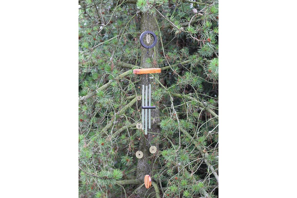 Bambusová zvonkohra - Gong - Mince Iting
