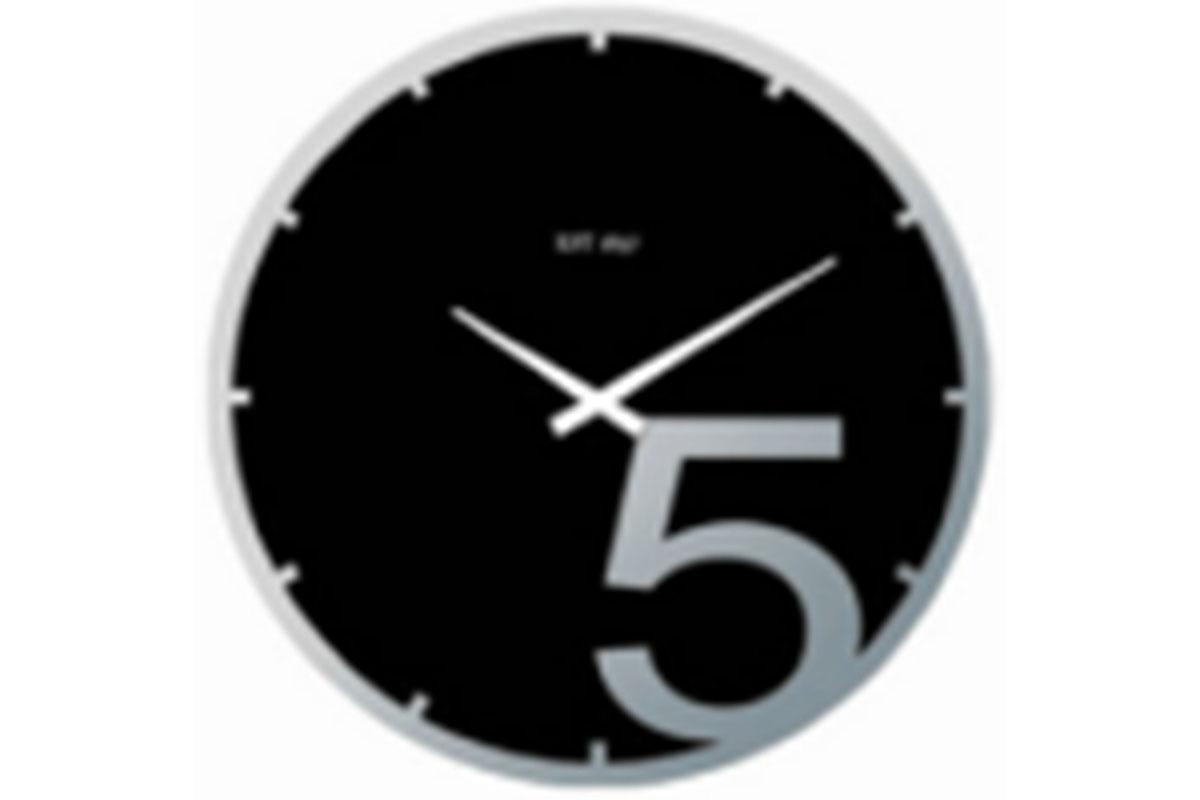 Skleněné hodiny na zeď Pětka 5