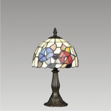 Stolní vitrážová lampa Flowers