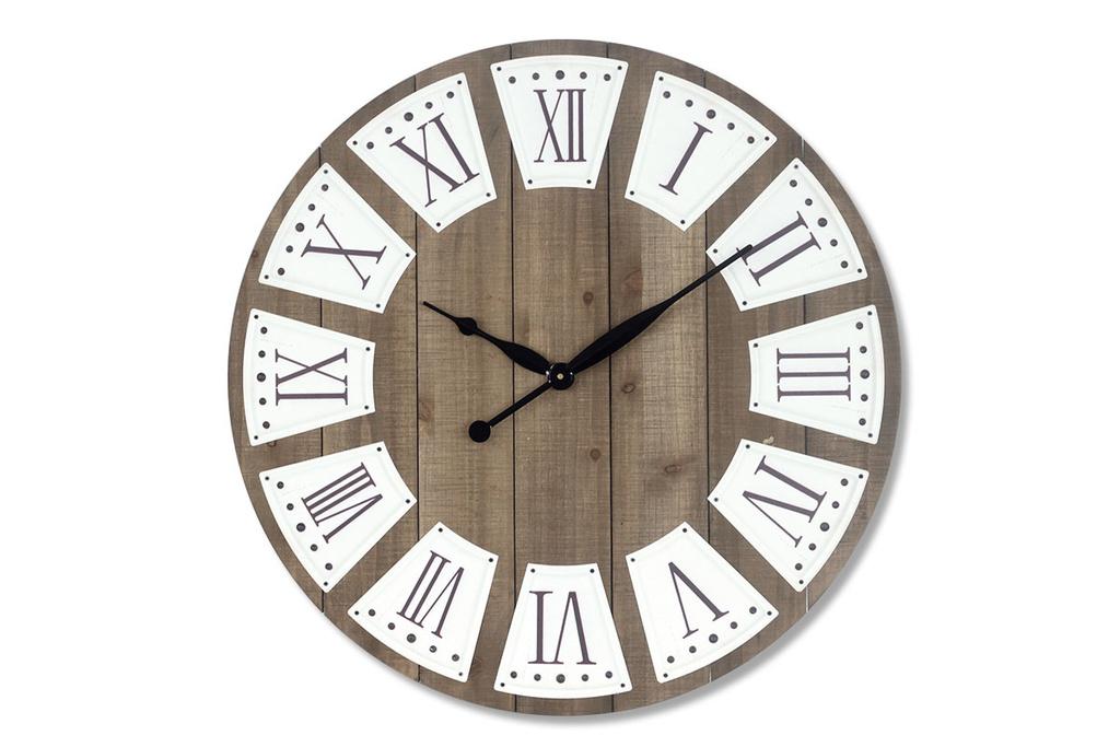 Luxusní dřevěné hodiny Římské číslice wood