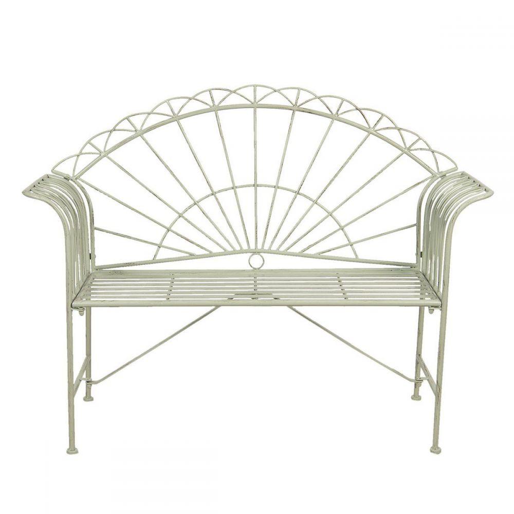 Kovová lavice lavička Provence Luc zelená