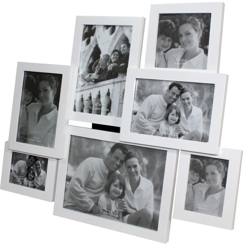 Dřevěný fotorámeček na 7 fotek - poškozené zboží