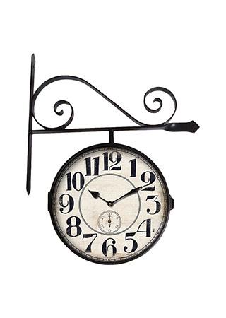 Kovové nádražní hodiny Čísla