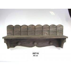 Dřevěná polička Grey