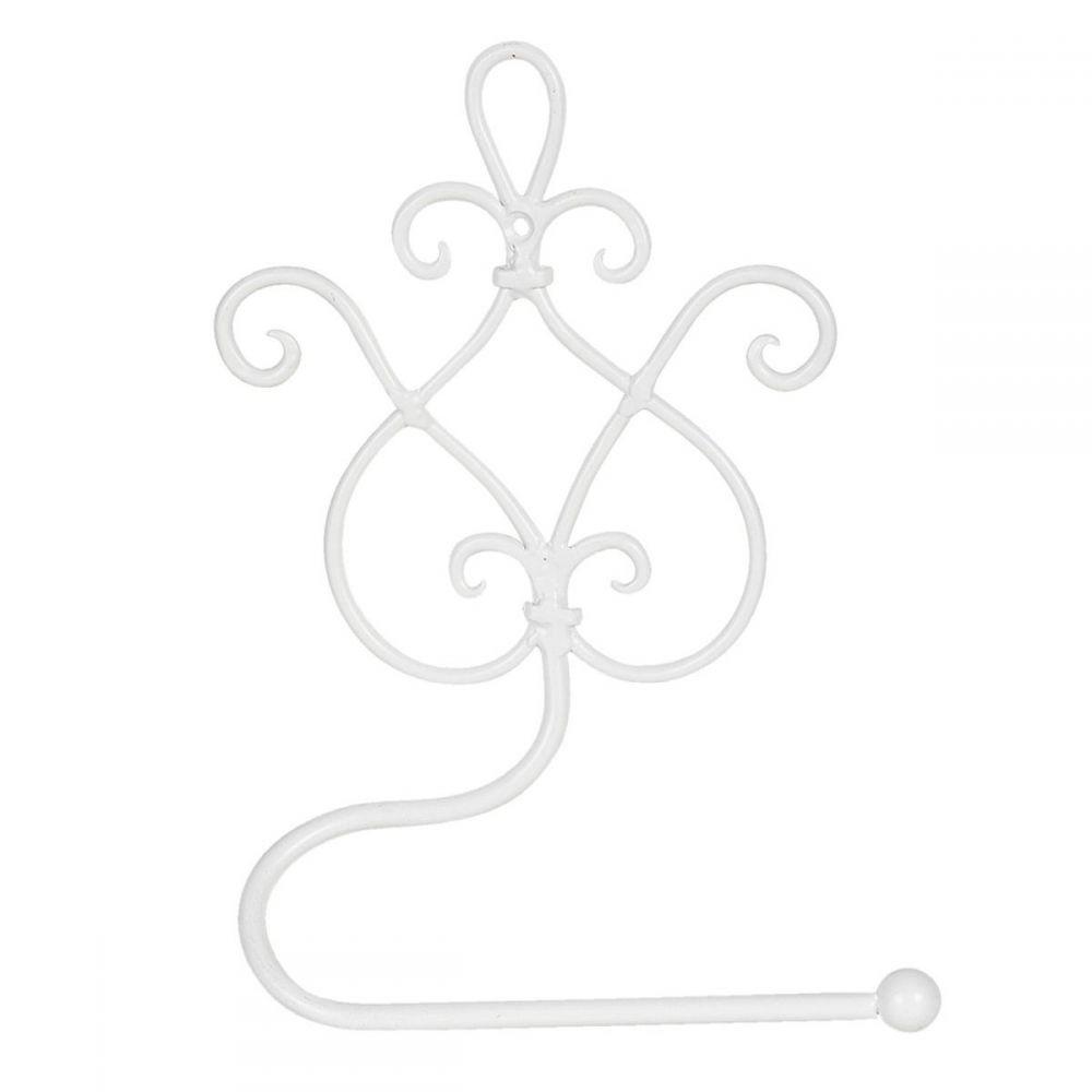 Kovový držák na toaletní papír Florencie Bílý