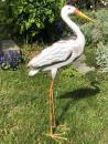 Luxusní kovový pták Čáp