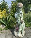 Socha ze ztuženého mramoru Vodník s dýmkou zelený